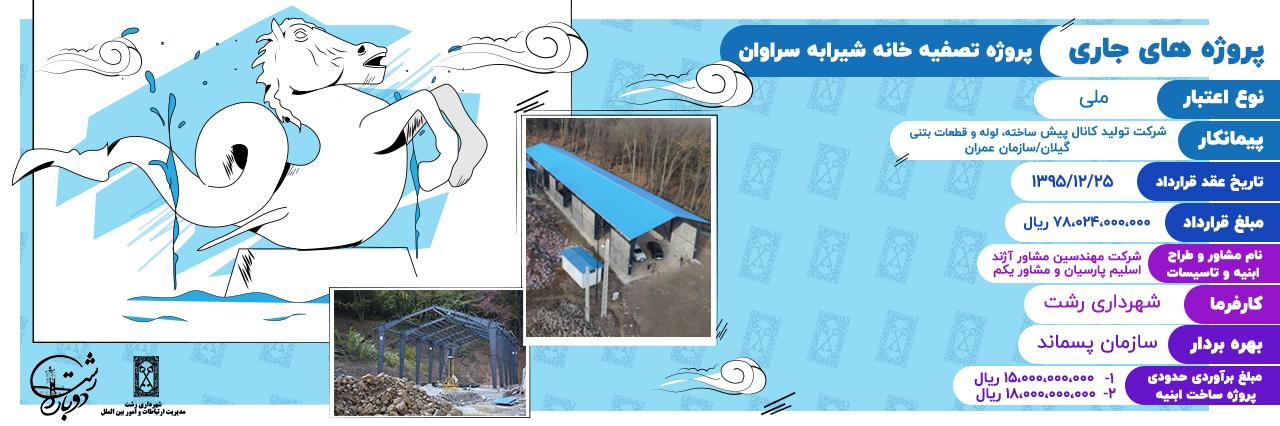 پروژه تصفیه خانه شیرابه سراوان