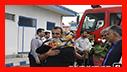 استقبال از تیم اعزامی آتش نشانان شهر باران به کربلای معلی/ آتش نشانی رشت