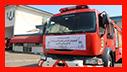مراسم بدرقه تیم عملیاتی آتش نشانان شهر باران به سمت کربلا معلی/ آتش نشانی رشت